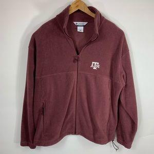 Columbia Texas A&M Fleece Zip Fro t Jacket Sz XXL